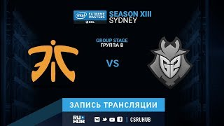 fnatic vs G2 - IEM Sydney XIII - map2 - de_mirage [Enkanis, ceh9]