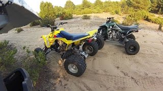 2. 2012 Suzuki LTZ Limited Edition + 2010 Suzuki QuadSport Z400 | film bez muzyki | ATV Quad riding HD