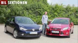 VW Golf 1.6 TDI Match vs. Ford Focus 1.6 TDCI Titanium duel