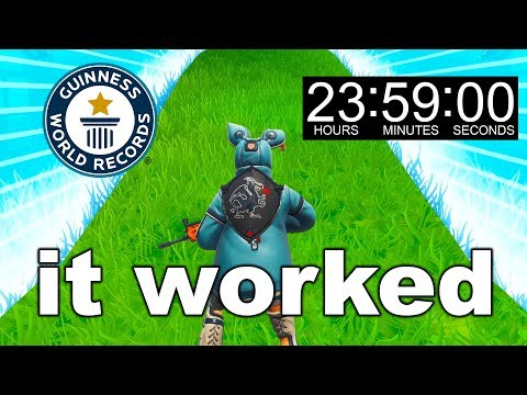 I Broke EVERY FORTNITE World Record in 24 Hours