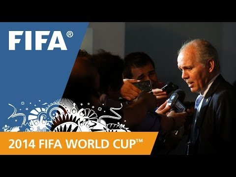 FINAL - Argentina coach Alejandro Sabella speaks about his team's draw for the 2014 FIFA World Cup™. More videos about the 2014 FIFA World Cup™ Final Draw: http://ww...