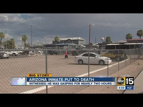 dies - Condemned Arizona inmate Joseph Wood gasped and snorted for more than an hour and a half during his execution before he died.