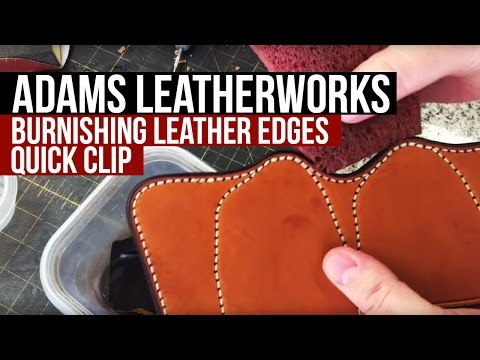 Burnishing Leather Edges (видео)