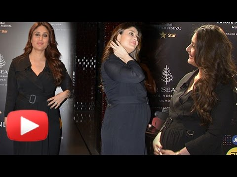 Pregnant Kareena Kapoor Shows Off HUGE BABY BUMP At MAMI Festival 2016