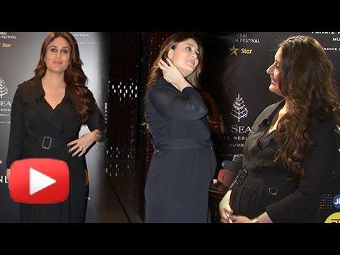Pregnant Kareena Kapoor Shows Off HUGE BABY BUMP At MAMI Festival 2016