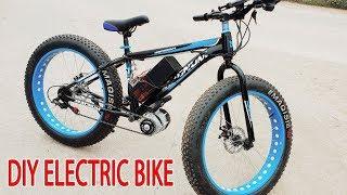 Video DIY Electric Bike 40km/h Using 350W Reducer Brushless Motor MP3, 3GP, MP4, WEBM, AVI, FLV Maret 2019