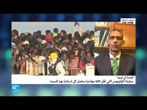 العرب اليوم - شاهد: السلطات الإسبانية تستعد لاستقبال سفينة المهاجرين أكواريوس