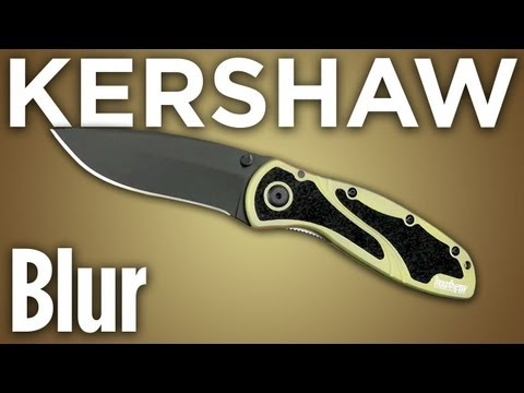 "Kershaw Blur Assisted Opening Knife (3.375"" Stonewash) 1670S30V"