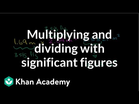Multiplying And Dividing With Significant Figures Video Khan Academy