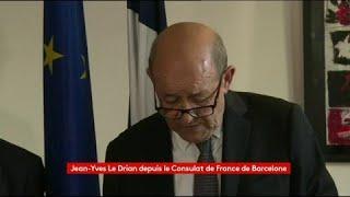 """Attentat à Barcelone : 28 français ont été blessés, 18 sont hospitalisés, dont huit sont """"dans un état grave"""", annonce Le Drian"""