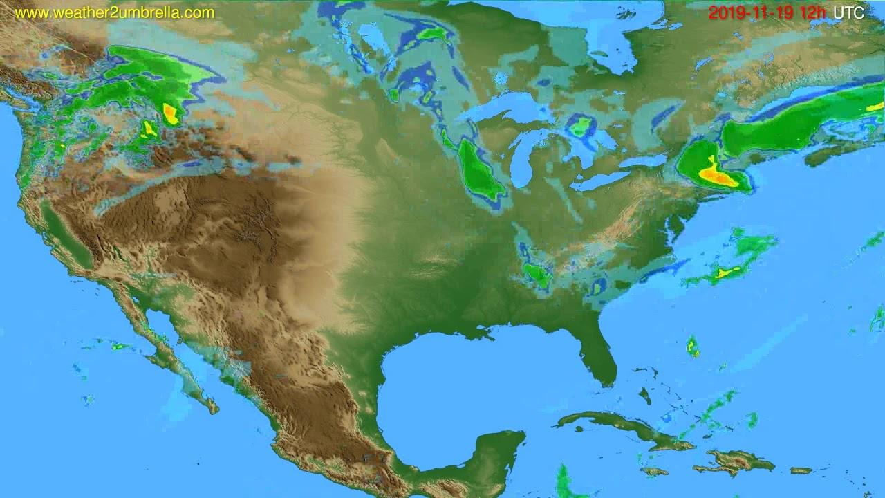 Radar forecast USA & Canada // modelrun: 00h UTC 2019-11-19