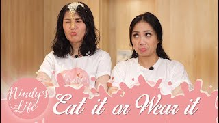Video Nindy's Life: Eat It or Wear It Challenge with Nagita Slavina | Nindy Ayunda MP3, 3GP, MP4, WEBM, AVI, FLV November 2018