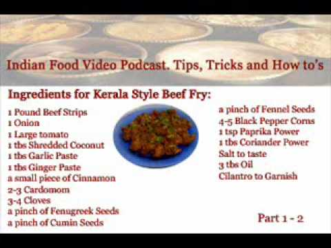 Indian Food,Cookery Video. Kerala Beef Recipes. South Indian Food