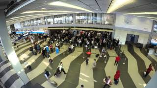 GoPro Time Lapse - People at O'Hare Airport [Terminal 3]