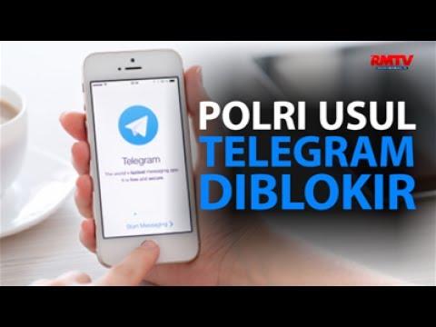 Polri Usul Telegram Diblokir
