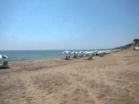 CORFU GREECE KORFU MARATHIAS BEACH KERKYRA