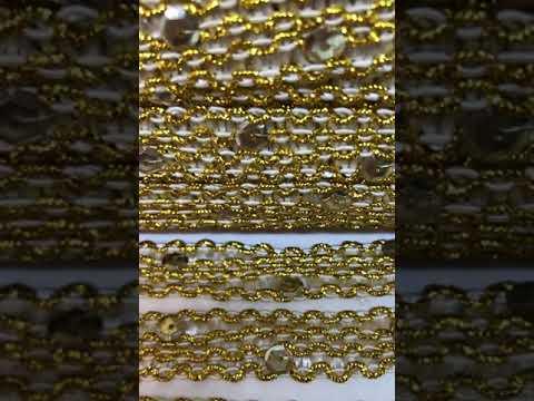 Passamanaria Trançados Dourado joulas 13mm 5M