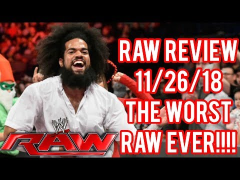 WWE Raw 11/26/18 Full Show Review Results Recap: WORST RAW EVER!