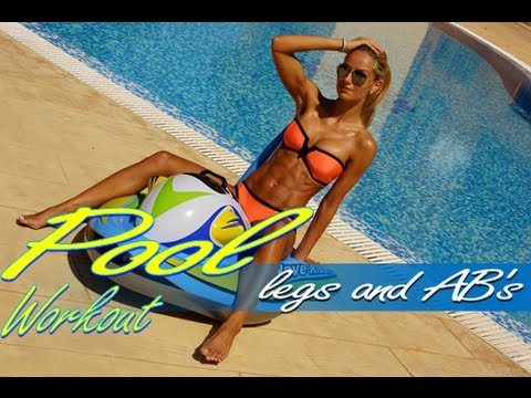 Outdoor workout for Ab's and Legs for women