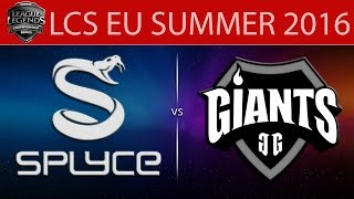Splyce vs Giants, game 1