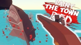 SHOOTING A SHARK! | Paint The Town Red (Pirate Daytime Cove Update)