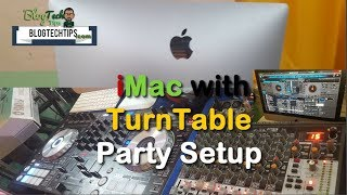 Check out my friends iMac with Turntable Mixer for playing at parties and Vertual DJ Setup. At its center is the latest 2017 iMac and Turntable, music and Technology lovers will like this cool setup.