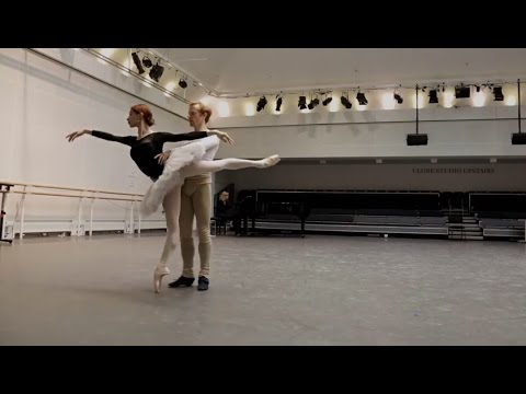Watch: Iana Salenko and Steven McRae in rehearsal for Swan Lake