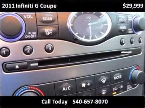 2011 Infiniti G Coupe Used Cars Stafford VA