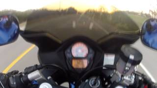 1. 2007 SV650s top speed run