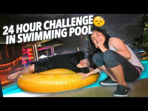 Download Lagu 24 HOUR CHALLENGE IN SWIMMING POOL! | Ranz And Niana Music Video