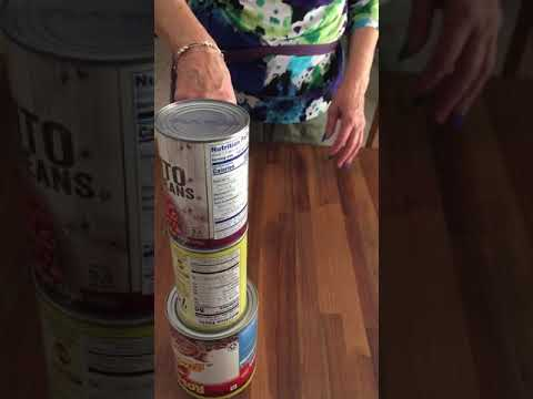 Grandma's bottle flip