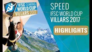 IFSC Climbing World Cup Villars 2017 - Speed - Finals Highlights by International Federation of Sport Climbing
