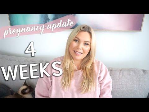 Week 4 Pregnancy Update - HCG Results & Symptoms видео