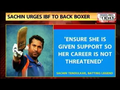 Sachin backs Sarita Devi writes to Sports Ministry in support of her