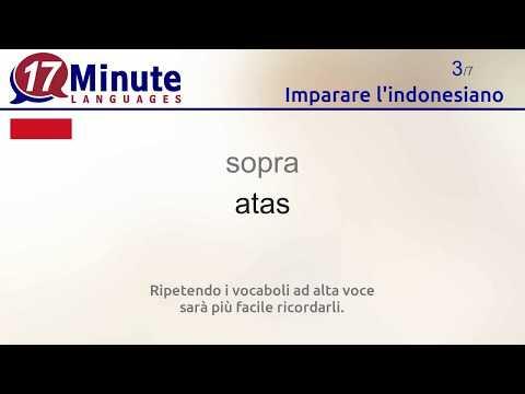 Imparare l'indonesiano (Parte 2)