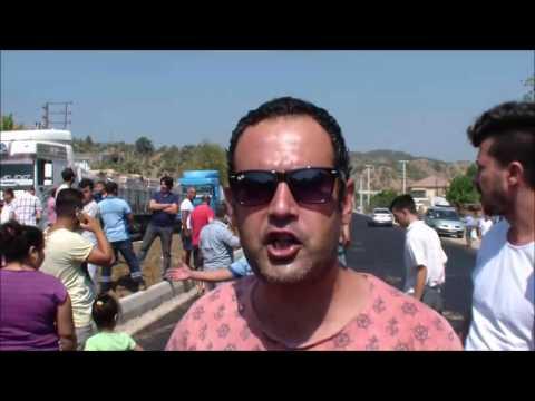 Bafa'da yol kapatma eylemi