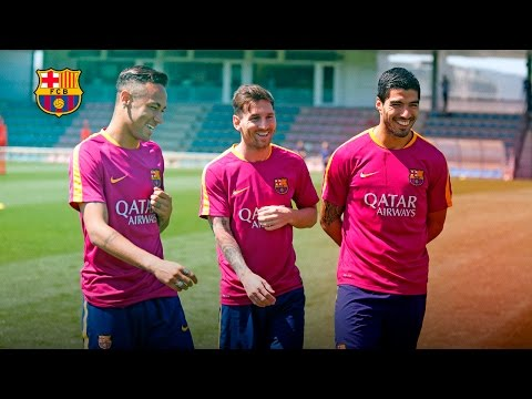 Avalanche of goals in training match from Messi, Neymar and co.
