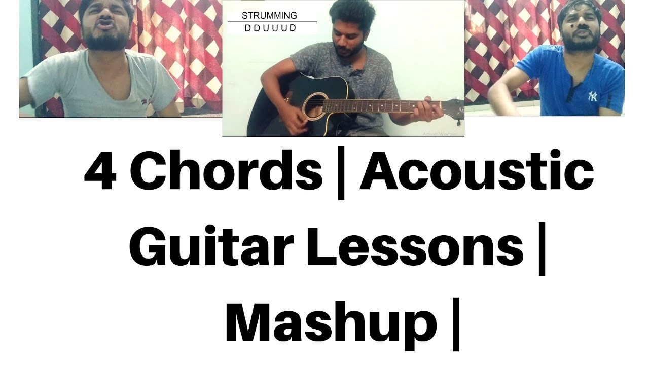 4 chords | AcoustiC Guitar Songs Mashup | GUITAR LESSONS | Bollywood songs | fun and learn