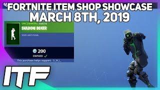 Fortnite Item Shop *NEW* SHADOW BOXER EMOTE! [March 8th, 2019] (Fortnite Battle Royale)