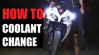 8. DIY: 09-14 Yamaha YZF-R1 Coolant Change Step By Step / How to Change Coolant on Motorcycle Yamaha R1