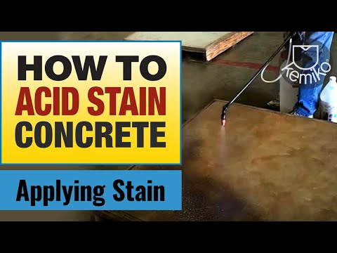Kemiko System Application: Step 2 - Decorative Acid Stain