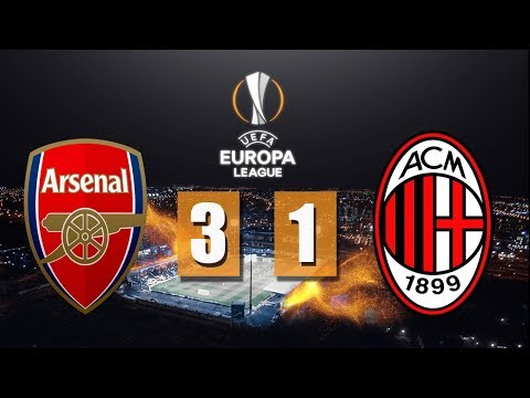 Arsenal vs AC Milan (3-1) Full Time All Goals & Highlights - Europa League 16/3/2018