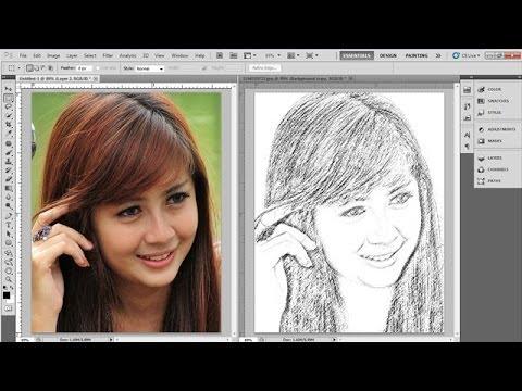 tutorial photoshop cara merubah foto jadi lukisan pensil photoshop ...