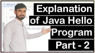 Explanation of Java Hello World Program by Deepak (Part 2)