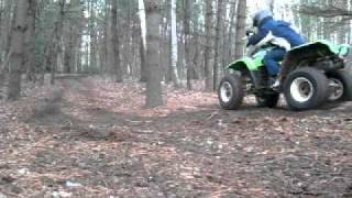 3. Ripping up dirt on a 2001 Kawasaki Mojave 250
