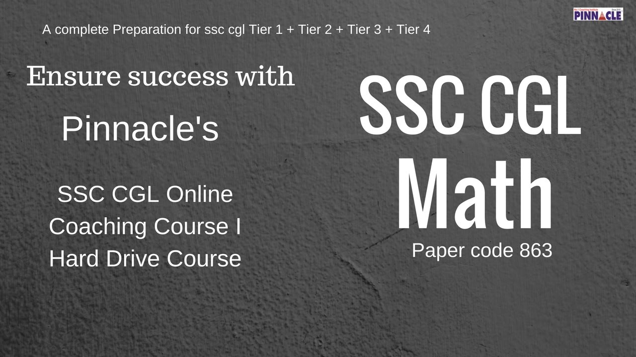 math questions discussion for ssc cgl test paper code 863