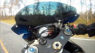 4. GSXR 750 TOP SPEED PULL. Gopro Test
