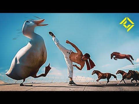 Man vs Horse Sized Duck vs 100 Duck Sized Horses