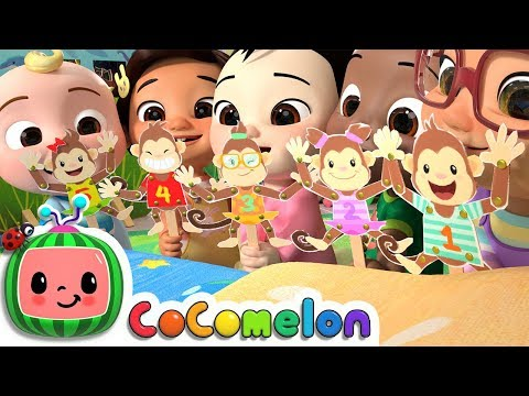Five Little Monkeys Jumping on the Bed   CoComelon Nursery Rhymes & Kids Songs