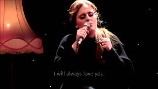 Adele - Lovesong (OFFICIAL VIDEO LYRICS) Live from Tabernacle, London